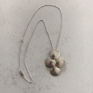 Jewelry - .925 Sterling hammered 4-dot pendant